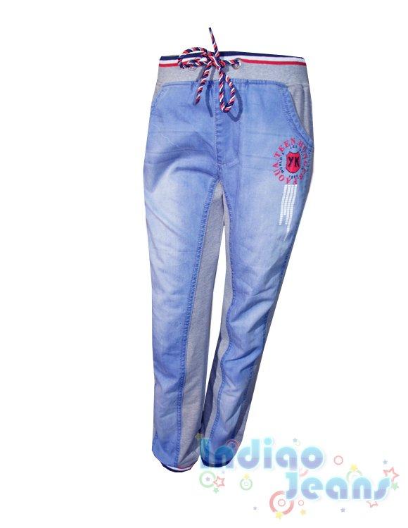 комбинированные брюки с кожей фото