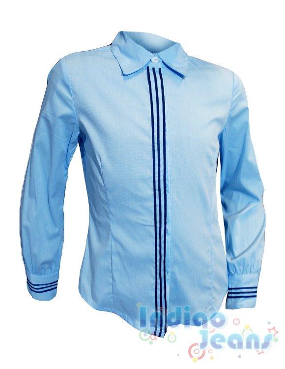 Голубые блузки для школы